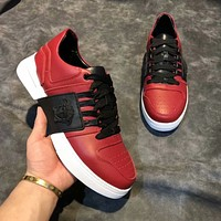VERSACE 2018 autumn and winter new trend low to help fashion sports shoes red