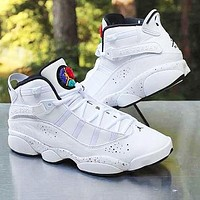NIKE AIR JORDAN 6 RINGS AJ6 sports and leisure high basketball shoes