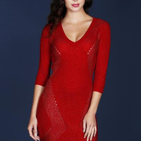 Body Con Sweater Dress With Lurex Detail