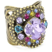 """Sorrelli """"Harmony"""" Vintage Style Antique Gold-Tone Adjustable Ring - designer shoes, handbags, jewelry, watches, and fashion accessories 