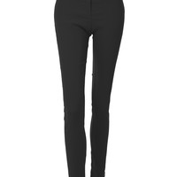LE3NO Womens Stretchy Mid Rise Slim Leg Office Suit Dress Full Length Pants (CLEARANCE)
