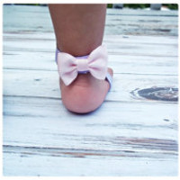 Baby Barefoot Sandals..Bow Sandals..Toddler Sandals..Newborn Sandals .. Baby Flower Sandals