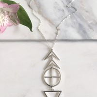 Tribal Signs Necklace - Silver