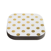 "KESS Original ""Scattered Gold"" Coasters (Set of 4)"
