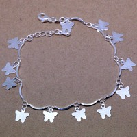 Awesome Shiny Hot Sale Gift Great Deal New Arrival Korean Silver Butterfly Jewelry Stylish Handcrafts Accessory Bracelet [8171772935]