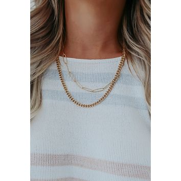 Get Real Necklace: Gold