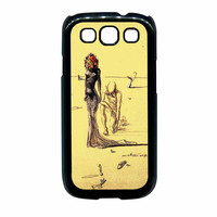 Salvador Dali Woman With Flower Head Samsung Galaxy S3 Case