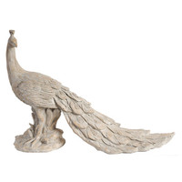 Standing Peacock Statue by A&B Home at Gilt