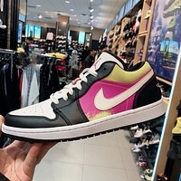 Nike Air Jordan 1 Low men's and women's low-top cushioning wear-resistant basketball shoes