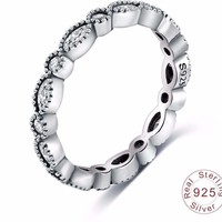 Sterling Silver Ring Wedding Rings with 925  Stamp for Women