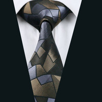 New Arrival Men`s Tie 100% Silk Classic Novelty Jacquard Woven Necktie For Formal Wedding Party Business