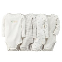 Carter's 5-pk. Animal Stripe Bodysuits - Baby Neutral, Size: