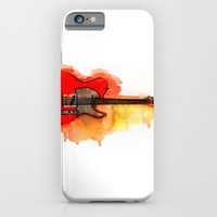Watercolor guitar iPhone & iPod Case by Fantasticarts