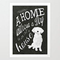 Home with Dog Art Print by Roboz