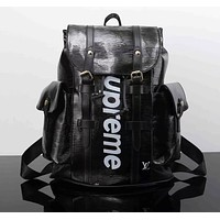 Louis Vuitton x Supreme Fashion Backpack Tote Travel Bag Shoulder Bag