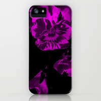 Purple Passion Flowers iPhone & iPod Case by Beach Bum Pics