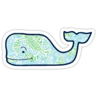 Vineyard Vines Whale Lilly Print 4 by Csturges07