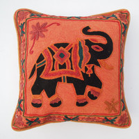 Indian Cushion Cover Pillow Cotton Suzani Embroidered Tapestry Throw Decor, Decorative Suzani Cushion Cover, Outdoor Boho Cotton Cushion