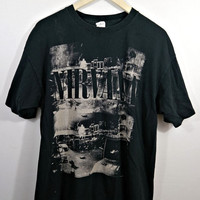 Nirvana Oversized Black Grunge 90's Vintage Band Tee Shirt