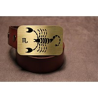 Scorpio -ZODIAC / ASTROLOGY Belt Buckle