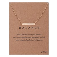 Simple Bar Card Alloy Clavicle Pendant Necklace  171208