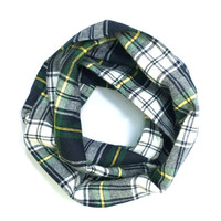 Kid Flannel Scarf Toddler Scarf Plaid Flannel Scarf Girl Scarf Boy Scarf Child Winter Scarf Green Navy Blue Baby Bib Scarf Ready to Ship