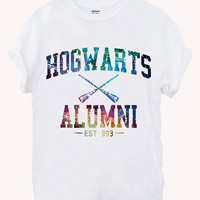 Hogwarts Alumni Screenprint 100% soft cotton t-shirt For girl and men Unisex