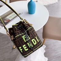 Fendi Women Fashion Leather Shoulder Bag Crossbody Satchel