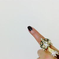 Valentines Day, Love, Fox ring, Fashion ring, ring, Crystal fox ring, ,Valentines day gift for lovers