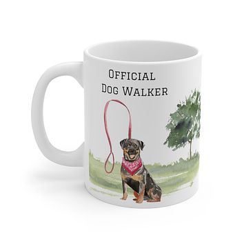 Official Dog Walker Mug — Rottweiler