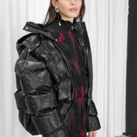 & Other Stories | Padded Down Puffer Jacket | Black
