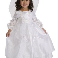 2 Item Bundle: NEW Little Adventures 12101 Deluxe Princess Bride Wedding Dress Up Costume (Ages 1-3