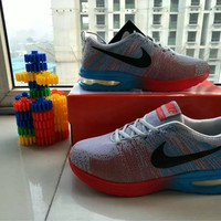 """Nike"" Fashion Casual Male Female Breathable Comfortable Air Cushion Fly Line Weave Couple Sneakers Running Shoes"