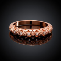 Accent Promise Rose Gold Plated Ring