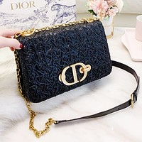 Dior Newest Popular Women Shopping Bag Leather Metal Chain Crossbody Satchel Shoulder Bag