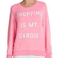 Wildfox - Shopping Is My Cardio Graphic Top