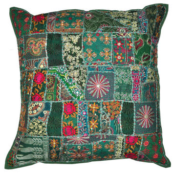 """24x24"""" XL Green Decorative throw Pillows for couch, bed pillows, meditation pillows, seating cushions, chair cushions, outdoor toss pillows"""