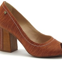Peep Toe Block Heel Redwood - Werner