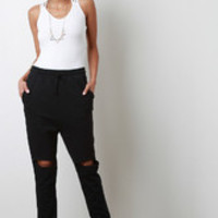 Women's Knee Slit Jogger Pants