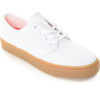 Nike SB Janoski White & Gum Canvas Women's Skate Shoes