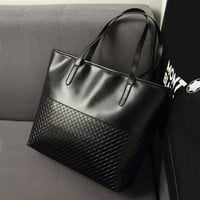 Hot Women Summer Black PU Leather Bag Weave Pattern Handbags Vintage Clutches Messenger Female Shopping Tote Bags Hot