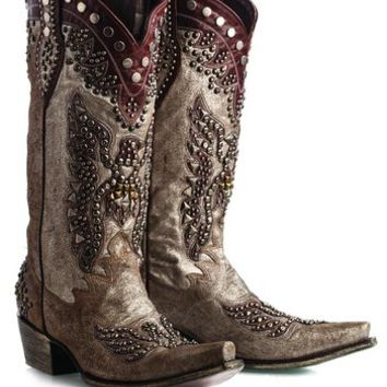 Lane Boots For Double D Ranch Brave Eagle Cowgirl Boots