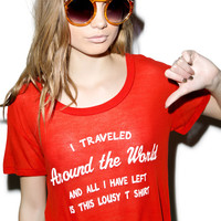 Wildfox Couture Around The World Easy Tee Inda