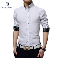 2016 Famous Brand Men Shirts Unique Neckline Men's Dress Shirt For Business Slim Fit Joker Large Size M-5XL