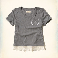 Lace-Hem Graphic Tee