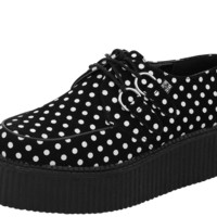 Suede Polka Dot Mondo Creepers by T.U.K.