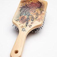 Womens Hand Painted Wooden Brush