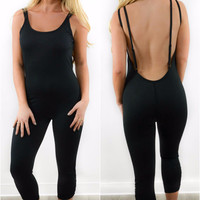 New Day Spaghetti Strap Open Back Active BodySuit