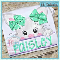 Easter shirt. Easter bunny with bow. Personalized Easter. Sample sale.