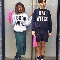 Good Witch / Bad Witch Duo Crewneck Sweatshirt Set